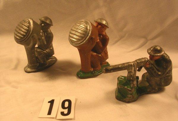 19: (3) Pcs.  American Metal Toys (Jones)