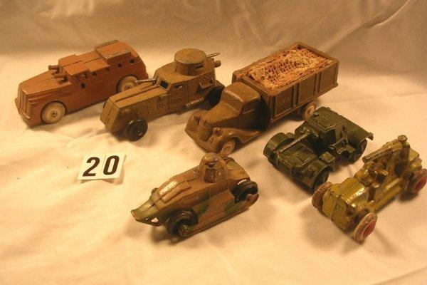 20: (6) Pcs. Dimestore Vehicle Lot Soldiers