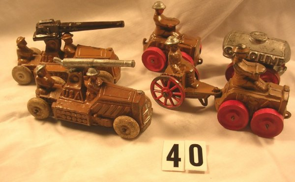 40: (6) Pcs. Manoil Vehicle Lot