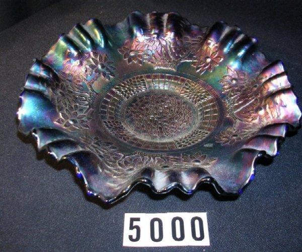 5000: Fenton Carnival Glass Orange Tree Bowl