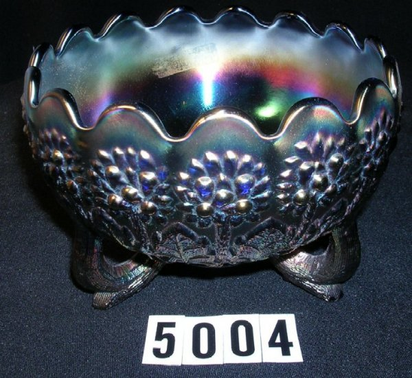 5004: Fenton Carnival Glass Fenton's Flowers Rose Bowl