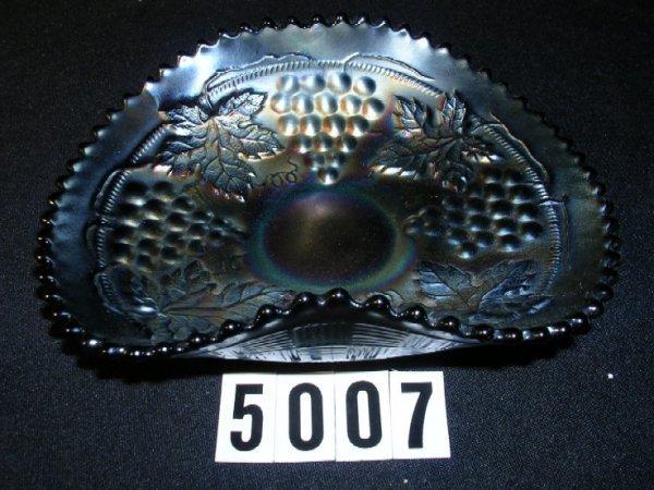 5007: Northwood Carnival Glass Grape Cable Bonbon