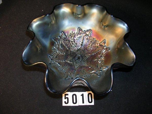 5010: Northwood Carnival Glass Star of David Bowl
