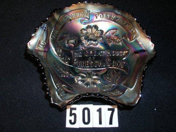 5017: Carnival Glass Isaac Benesch Bowl