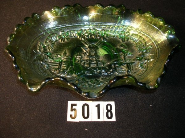 5018: Imperial Carnival Glass Windmill Bowl