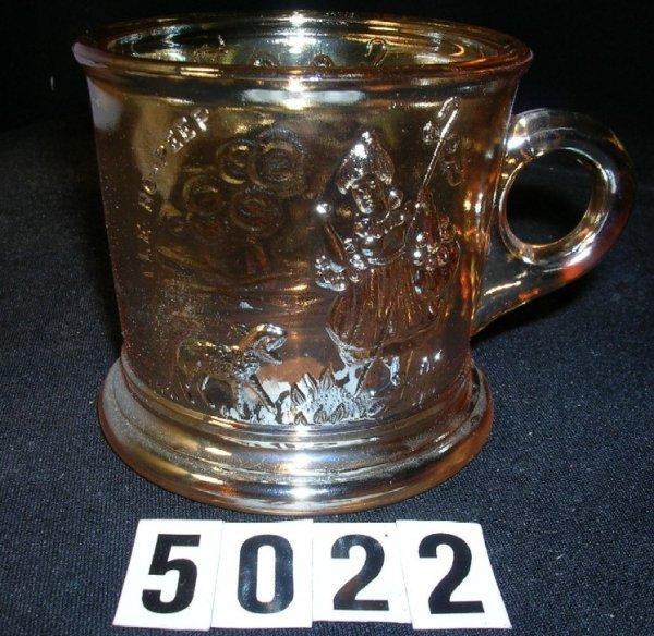 5022: Westmoreland Carnival Glass Bo Peep Mug