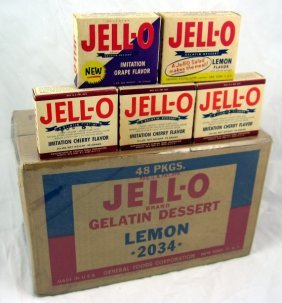 6: Early Jell-O Gelatine Box & Nos 1940's Jello