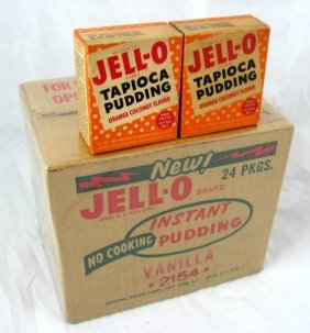 Jell-O Pudding Store Box & 2 Nos Tapioca
