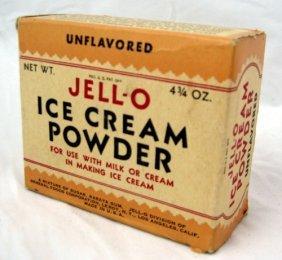 9: 1920's Nos Box Jell-o Ice Cream Powder & Ad