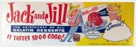 11: Vintage 1930's Jack & Jill Gelatin Store Sign