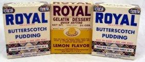 12: 3 Vintage Nos Boxes Royal Gelatin & Pudding