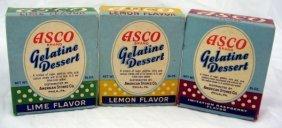 14: 3 Vintage Nos Boxes Asco Gelatine