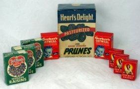 Lot Of Vintage Raisin & Prune Boxes