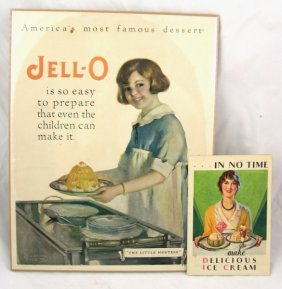 17: Vintage Jell-O Advertising Sign & Recipe Book