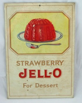 22: Vintage 1920 Jell-O Litho Fan Pull