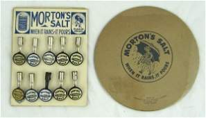 56 Vintage Mortons Salt Pencil Toppers  Items