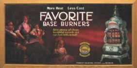 173: Large Early Favorite Base Burners Stove Sign