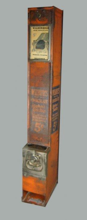 331: 5c Wilbur Tin Wall Coin-Op Chocolate Machine
