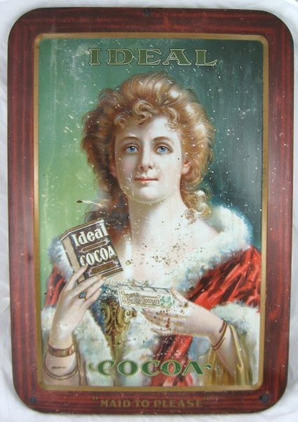 374: Rare Ideal Cocoa Lititz PA Advertising Sign