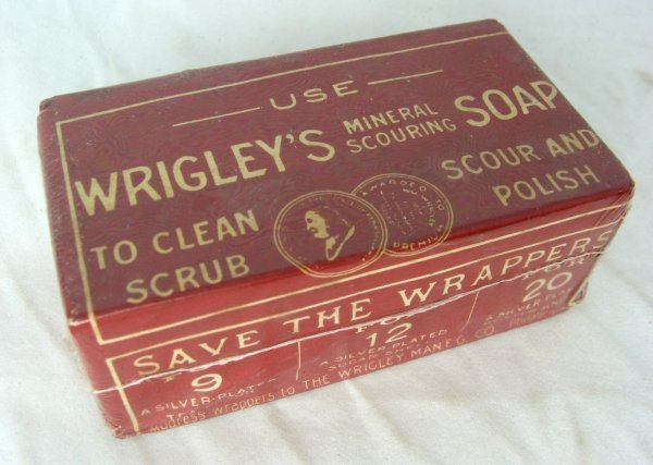 410: 1905 Wrigley's Mineral Scouring Soap Nos Rare