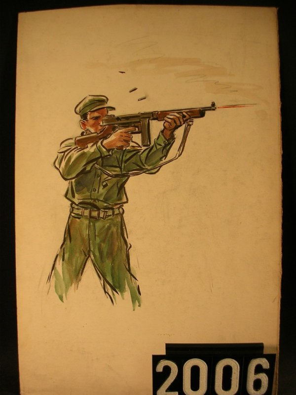 2006: Original Watercolor Fred Ray WWII Military
