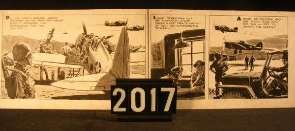 2017: Original Pen and Ink Fred Ray WWII Military