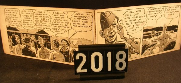 2018: Original Pen and Ink Fred Ray WWII Military
