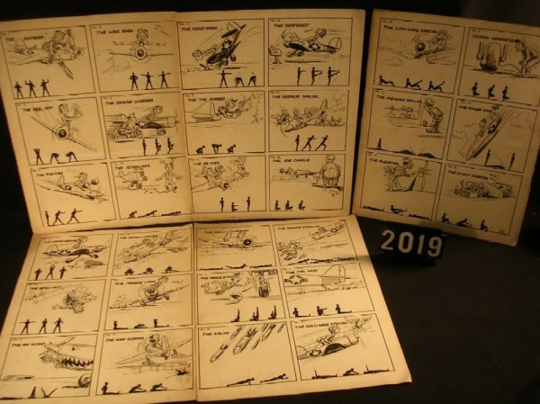 2019: Original Pen and Ink Fred Ray WWII Military