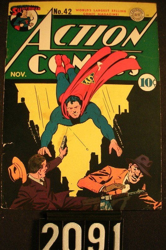 2091: Action Comics Superman No. 42 Fred Ray Cover Art