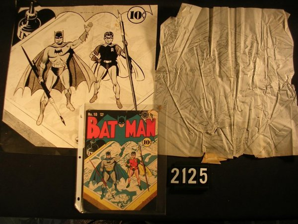 2125: Batman No. 10 Cover, Stat and Original Sketch