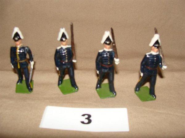 1003: Britain Swedish Life Guards (4) Pcs.