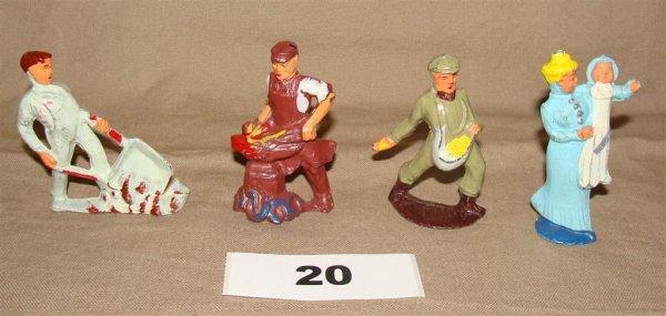 1020: Manoil Happy Farm (4) Pieces