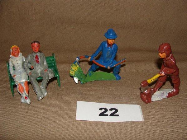 1022: Manoil Happy Farm (5) Pieces