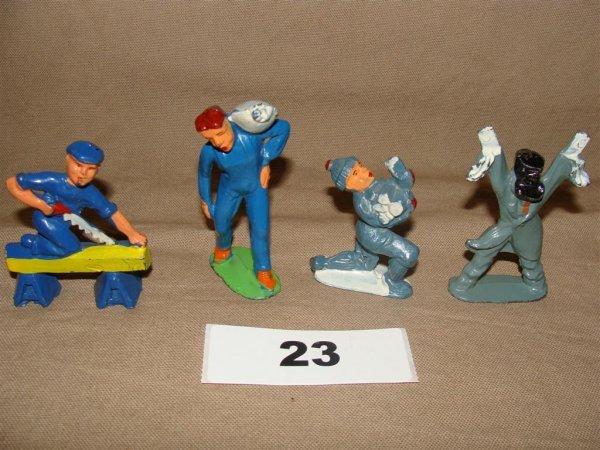 1023: Manoil Happy Farm (4) Pieces