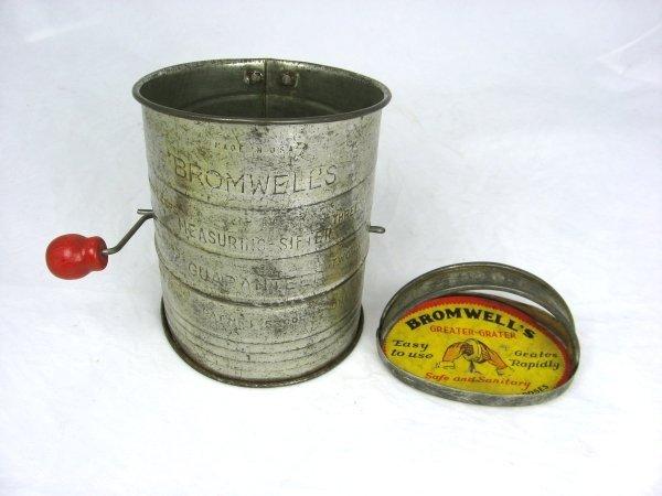 3: Bromuells Nos Tin Kitchen Sifter & Grater