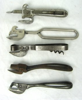 5 Nos Early Can Jar Openers King 1895