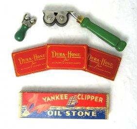 Vintage Barber Blade Knife Sharpening Stones