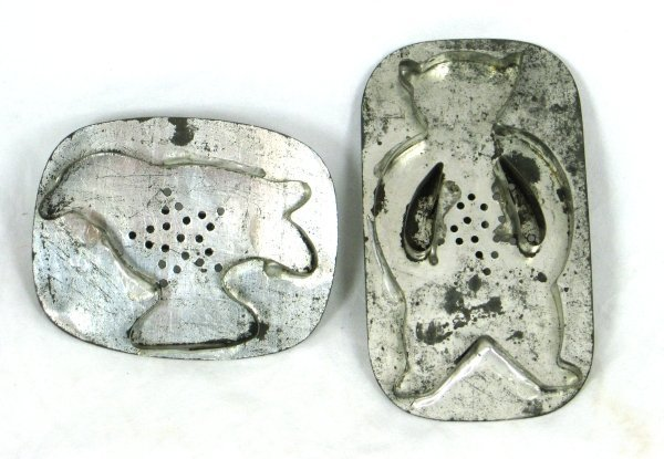 31: 2 19th Cent. PA Soldered Tin Cookie Cutters
