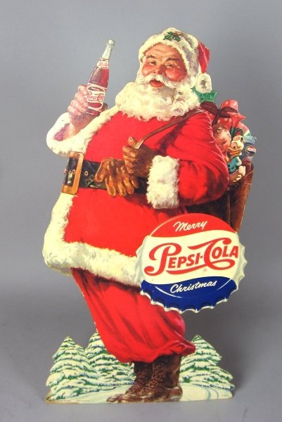 342: Early Pepsi-Cola Christmas Stand Up Display