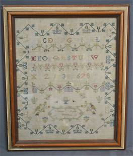 FINELY WORKED SAMPLER, WROUGHT BY LOUISA BROGERS, 1830