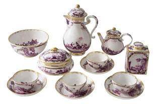 9-piece tea set Meissen Zw. 1735/40   9-teiliges