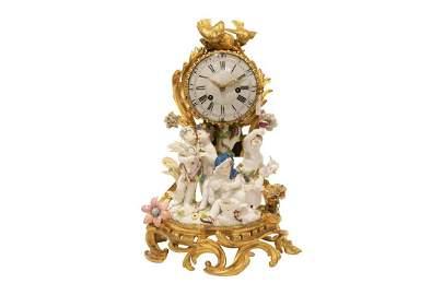Small pendulum with the 4 seasons, Meissen movement