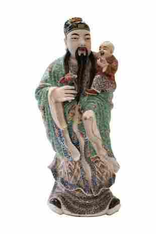 Asian priest with child   Asiatischer Priester mit Kind