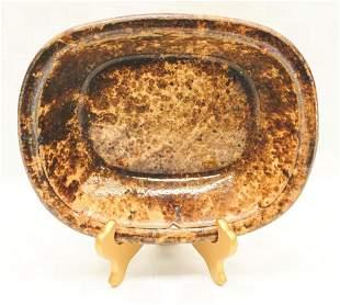"Bennington Deep Dish Pottery Tray 10.5"" L x 2.375"" D x"