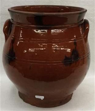 "PA Redware Storage Jar (no lid) 8.5"" x 7.5"" Condition:"