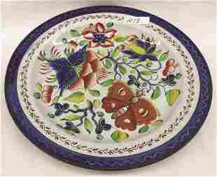 "Gaudy Dutch Butterfly Plate 8.375"" Dia. Condition: Good"