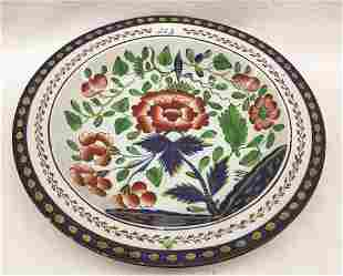 "Gaudy Dutch Carnation Soup Plate 10"" Dia. Condition:"