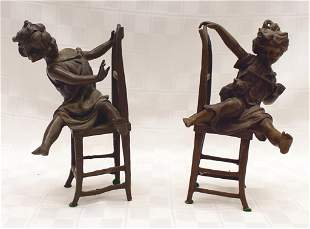 """Bronze Pair of Bookends 8.5"""" H x 4"""" W Condition: Good"""