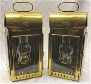 Pair of Davey & Co. Ship's Lanterns, London Circa 1890,