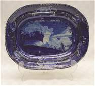 Historical Blue Staffordshire with Scene of Niagra